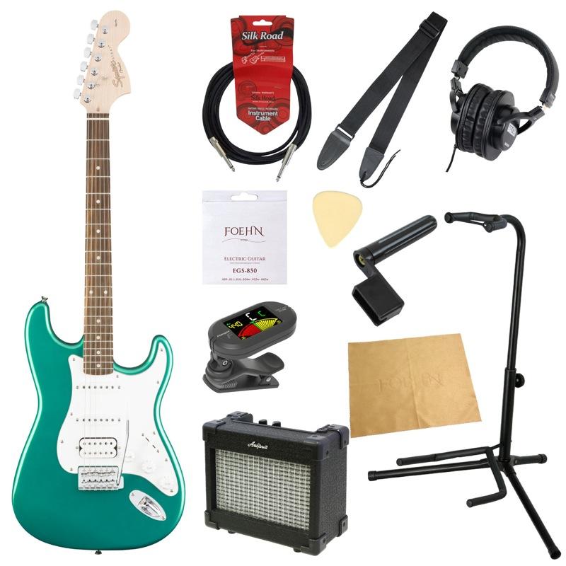 エレキギター入門11点セット Squier Affinity Series Stratocaster HSS RCG RW