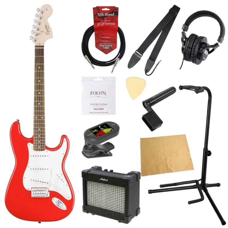 エレキギター入門11点セット Squier Affinity Series Stratocaster RCR RW
