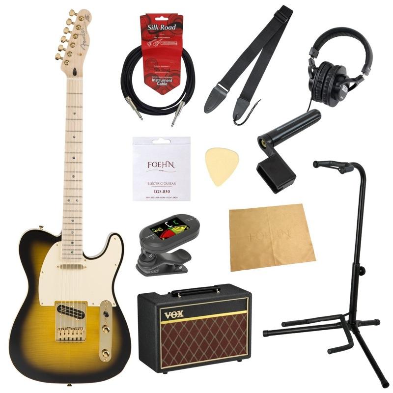 フェンダーから始める!大人の入門セット Fender Japan Exclusive Richie Kotzen Telecaster Brown Sunburst リッチー・コッツェン シグネイチャー エレキギター VOXアンプ付 11点セット