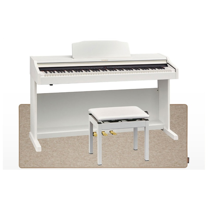 Roland RP501R-WHS Digital Piano ホワイト デジタルピアノ 高低自在椅子&ピアノセッティングマット付 【組立設置無料サービス中】