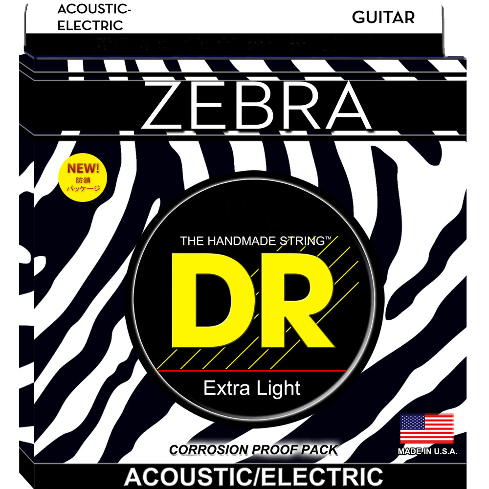 DR ZEBRA ZAE-12 MEDIUM アコースティックギター弦×12セット