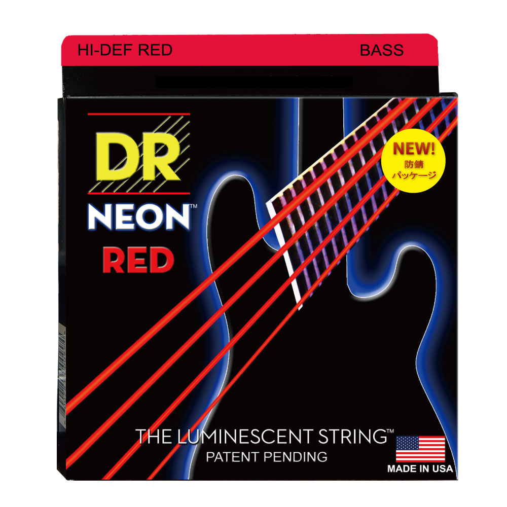 DR NEON Hi-Def RED MEDIUM NRB-45 エレキベース弦×2セット