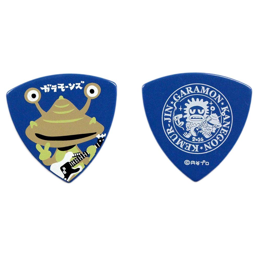 ガラモーンズ カネゴン BLU 1.0mm PVC ギターピック×50枚