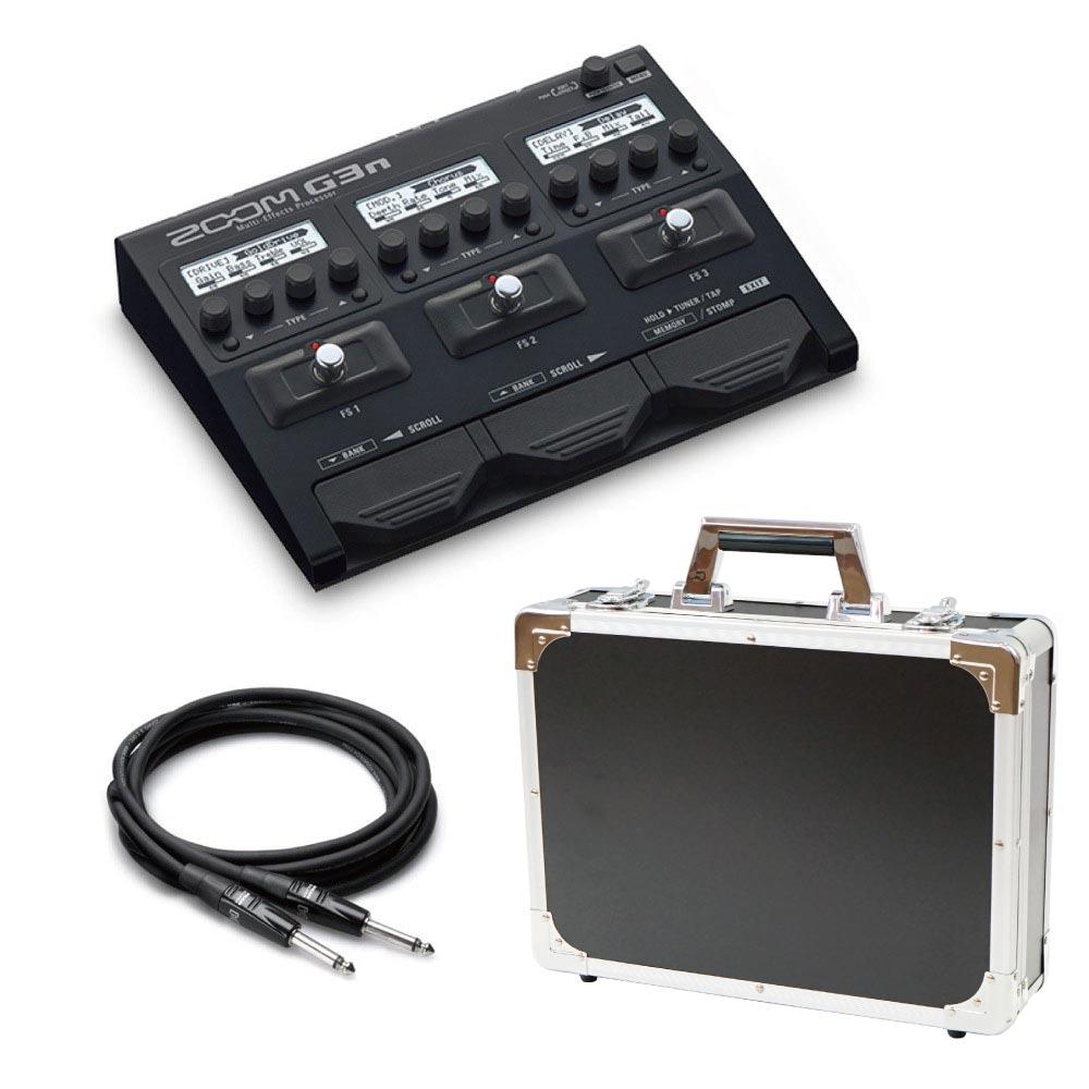 ZOOM G3n マルチエフェクター Dicon Audio エフェクターケース HOSA ギターケーブル3m 3点セット