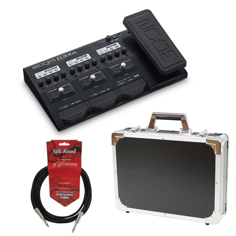 ZOOM G3Xn マルチエフェクター Dicon Audio エフェクターケース Silk Road ギターケーブル 3メートル 3点セット