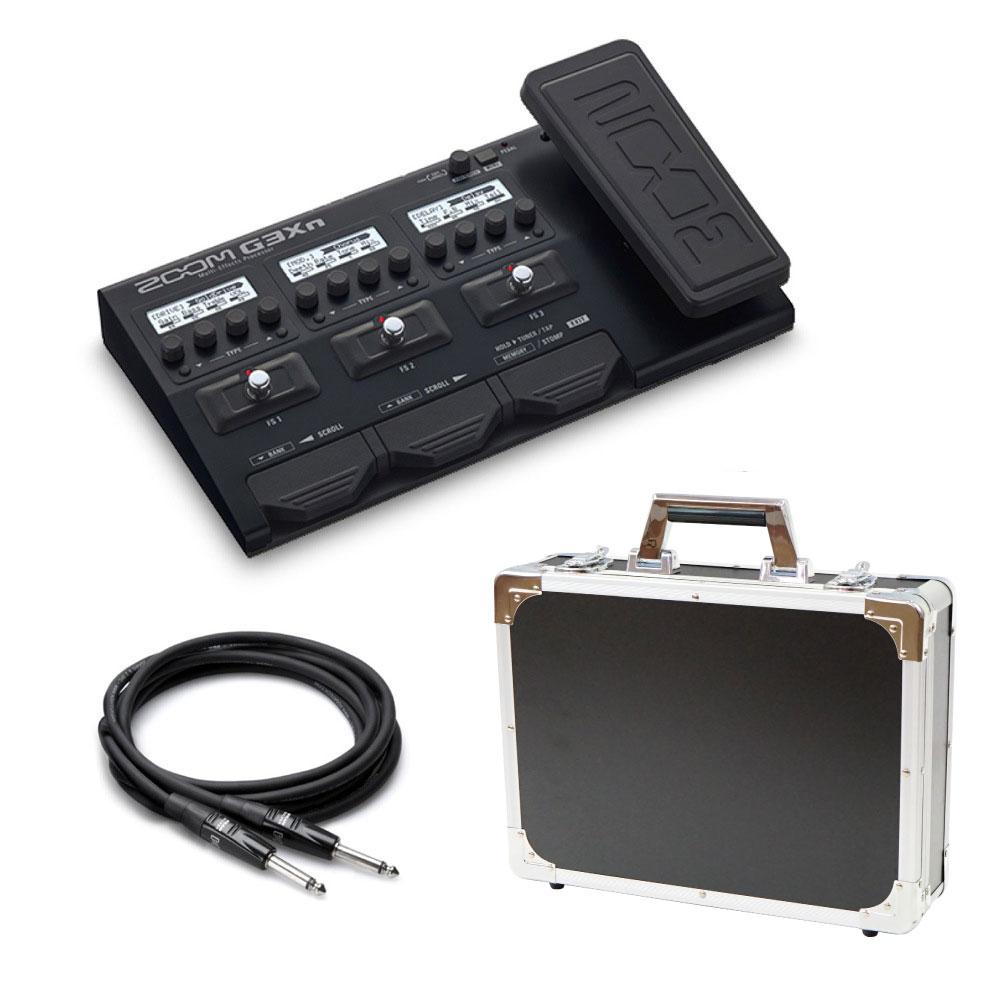 ZOOM G3Xn マルチエフェクター Dicon Audio エフェクターケース HOSA ギターケーブル3m 3点セット