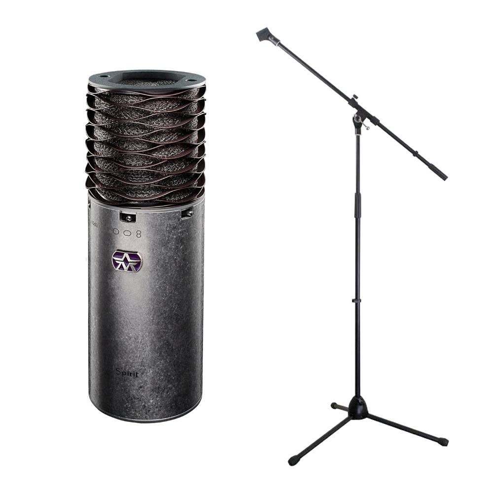 Aston Microphones AST-SPIRIT Aston Spirit コンデンサーマイク Dicon Audio MS-003 マイクスタンド 2点セット