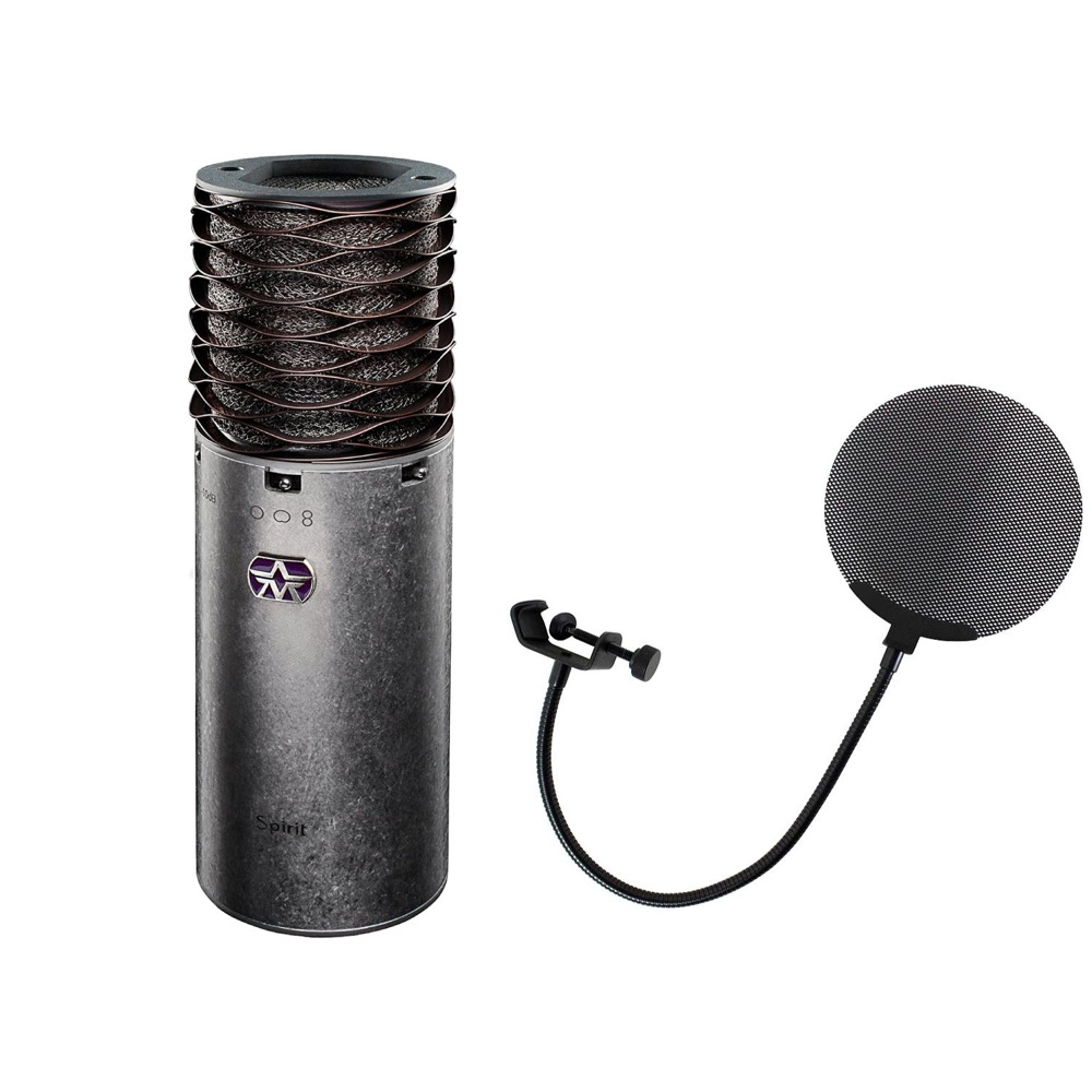 Aston Microphones AST-SPIRIT Aston Spirit コンデンサーマイク Dicon Audio DCP-2 メタルポップフィルター 2点セット