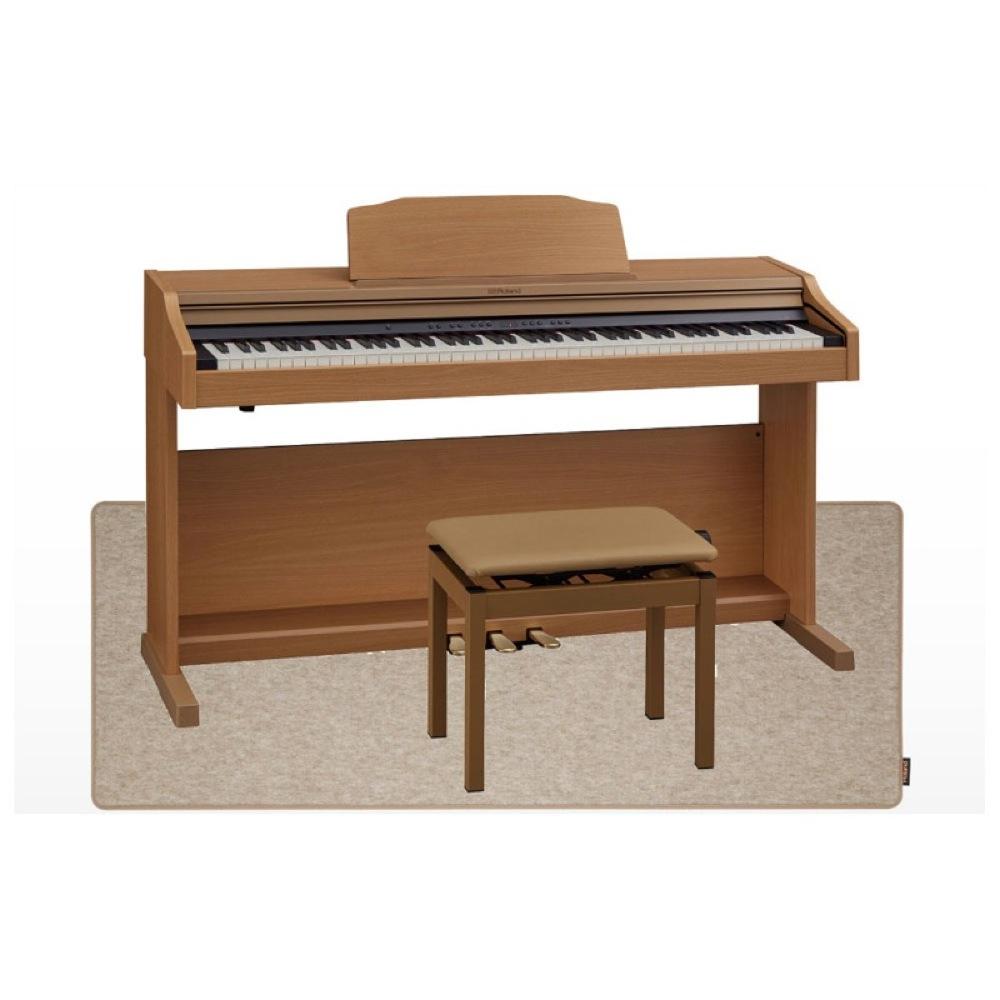 Roland RP501R-NBS Digital Piano ナチュラルビーチ調仕上げ デジタルピアノ 高低自在椅子&ピアノセッティングマット付 【組立設置無料サービス中】