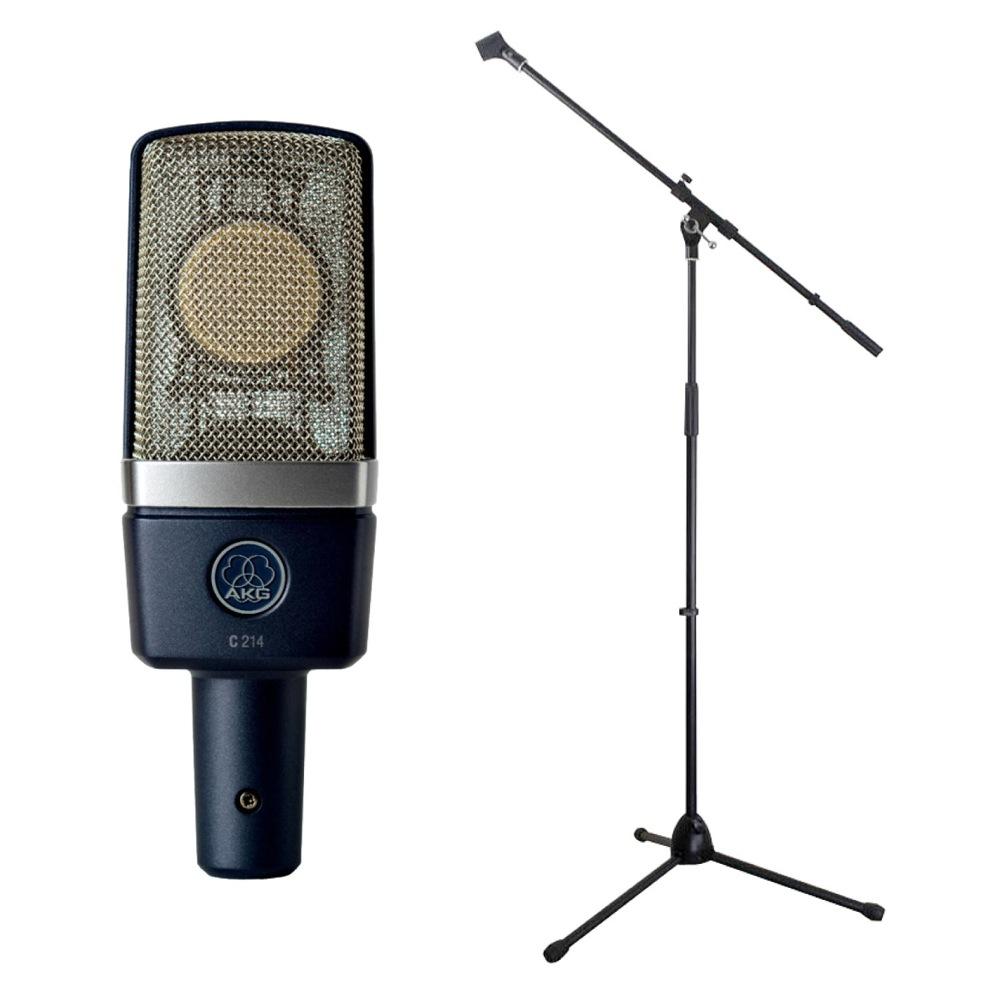 AKG C214 コンデンサーマイク Dicon Audio MS-003 マイクスタンド 2点セット