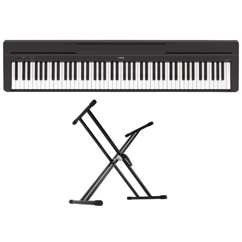 YAMAHA P-45B ブラック 電子ピアノ Dicon Audio KS-020 X型キーボードスタンド 2点セット