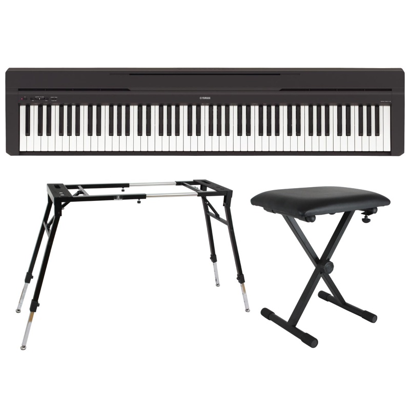 最新の激安 YAMAHA P-45B ブラック 電子ピアノ Dicon Audio KS-060 4本脚型 キーボードスタンド キーボードベンチ 3点セット, 八幡西区 db2a7137