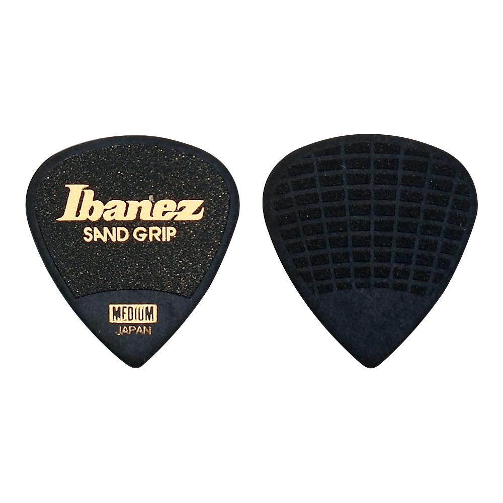 アイバニーズ グリップウィザードシリーズ サンドグリップ IBANEZ 新作通販 0.8mm ギターピック×10枚 PA16MSG-BK MEDIUM 買物