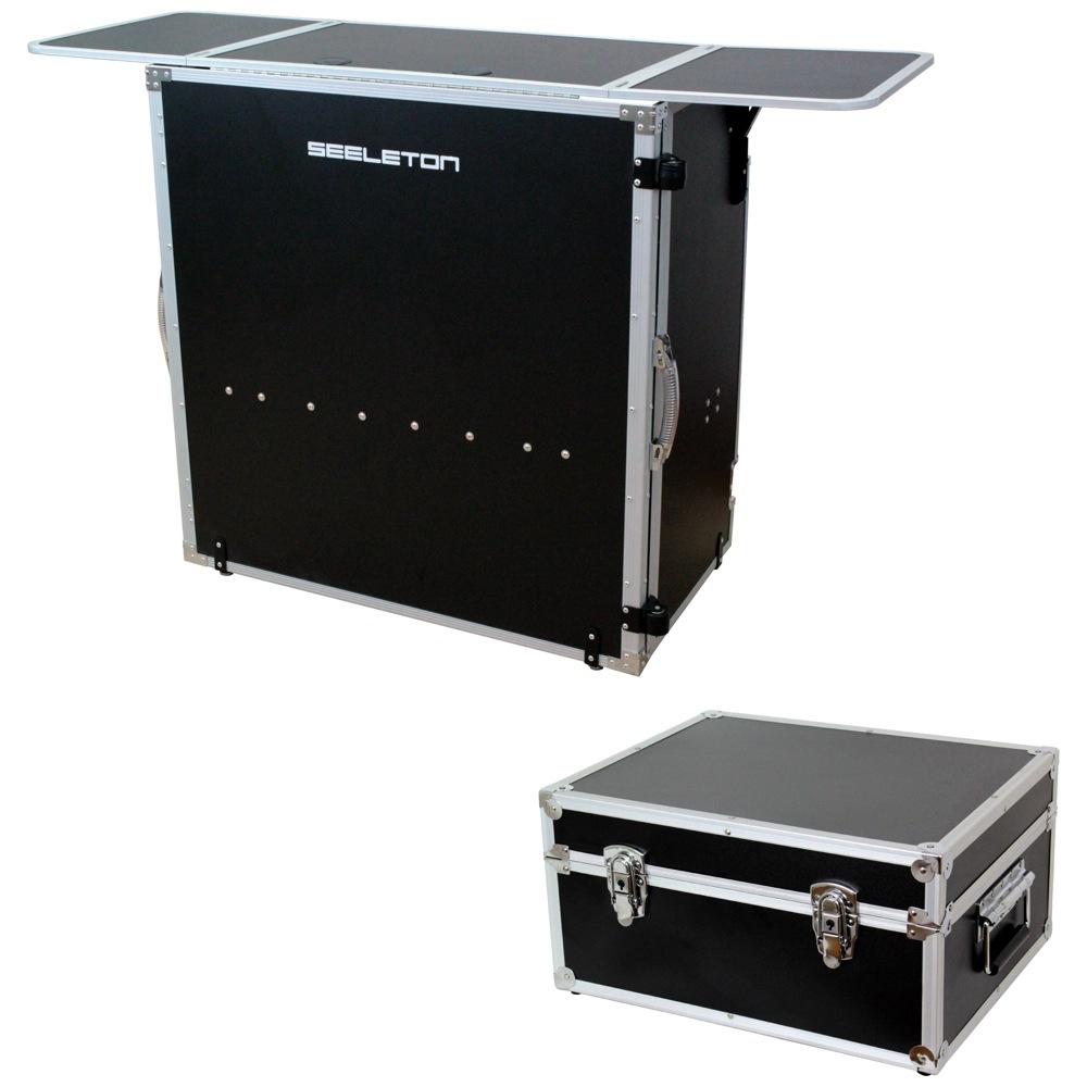 SEELETON SDJT 折りたたみ式 DJテーブル Dicon SDJT Audio Dicon DEC-40BL SEELETON 7インチレコードケース 2点セット, たまごのソムリエ:79f3242c --- officewill.xsrv.jp