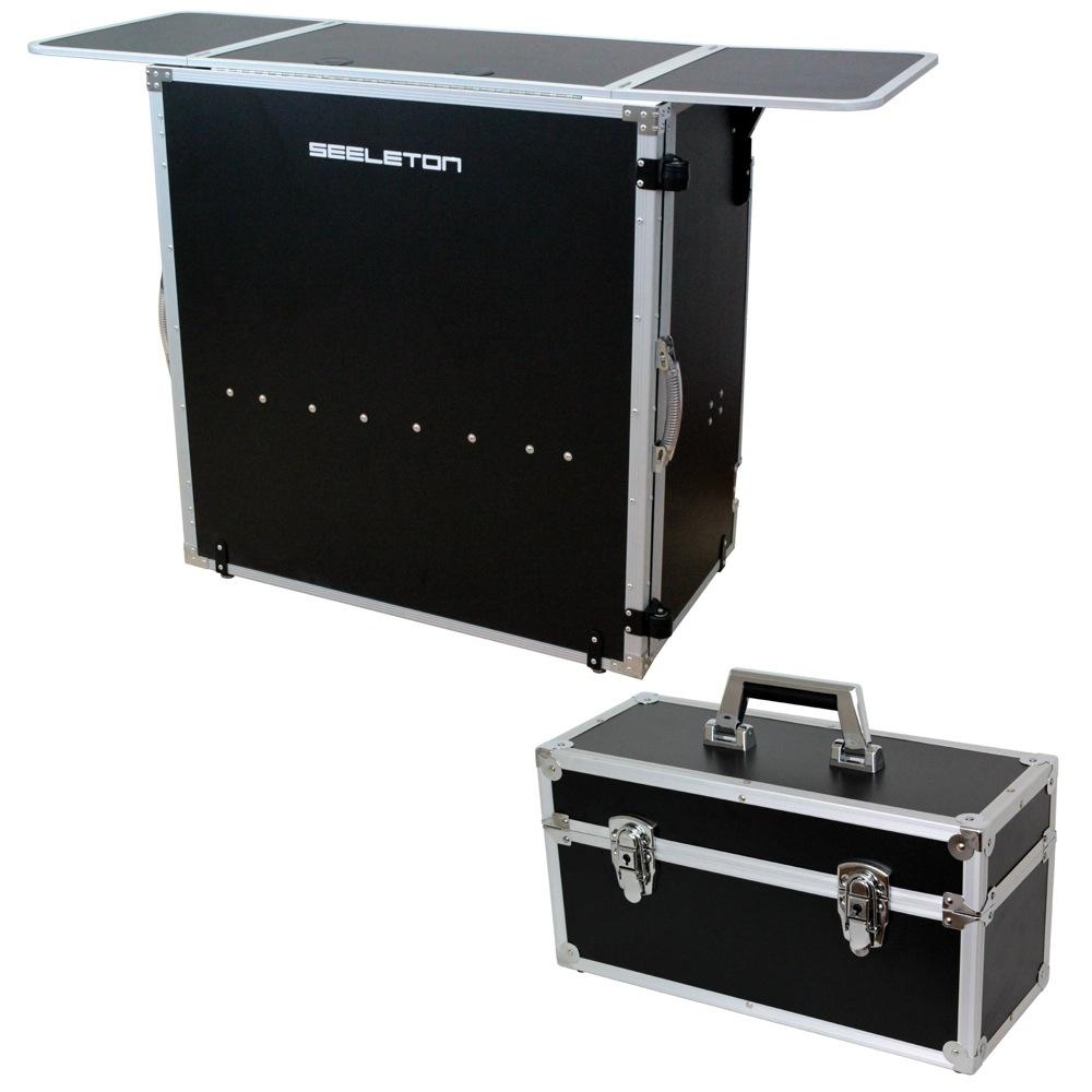 SEELETON SDJT 折りたたみ式 DJテーブル Dicon Audio DEC-30BL 7インチレコードケース 2点セット