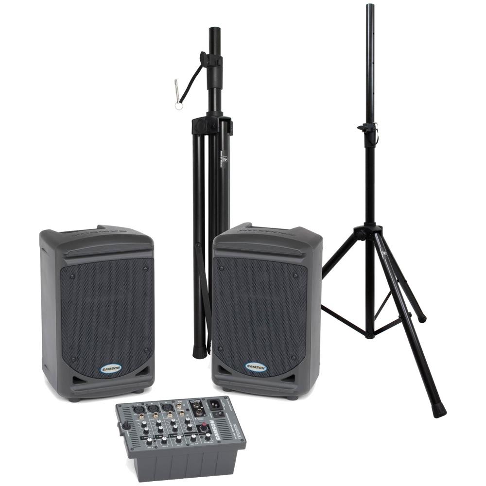 SAMSON Expedition XP150 ポータブルPA Dicon Audio SS-062 スピーカースタンド 2点セット