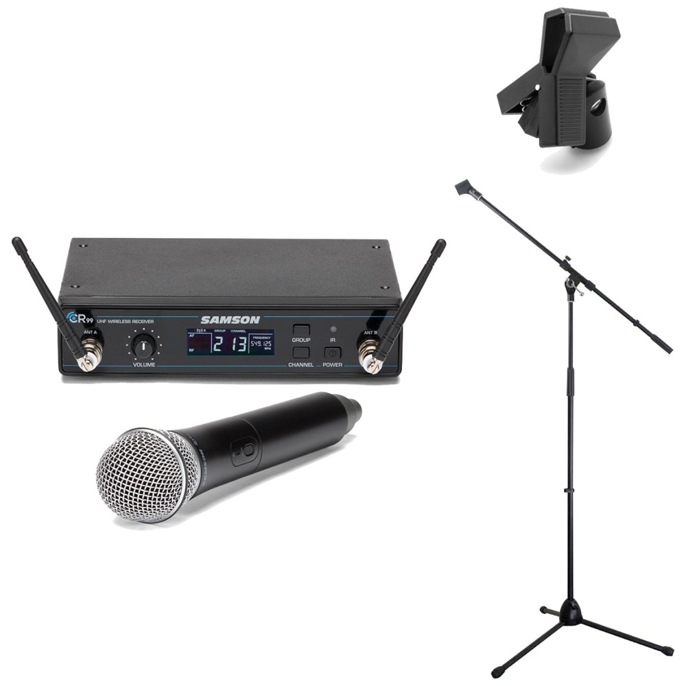 SAMSON Concert 99 Handheld ワイヤレスシステム Dicon Audio MS-003 マイクスタンド Hosa MHR-122 マイクホルダー 3点セット