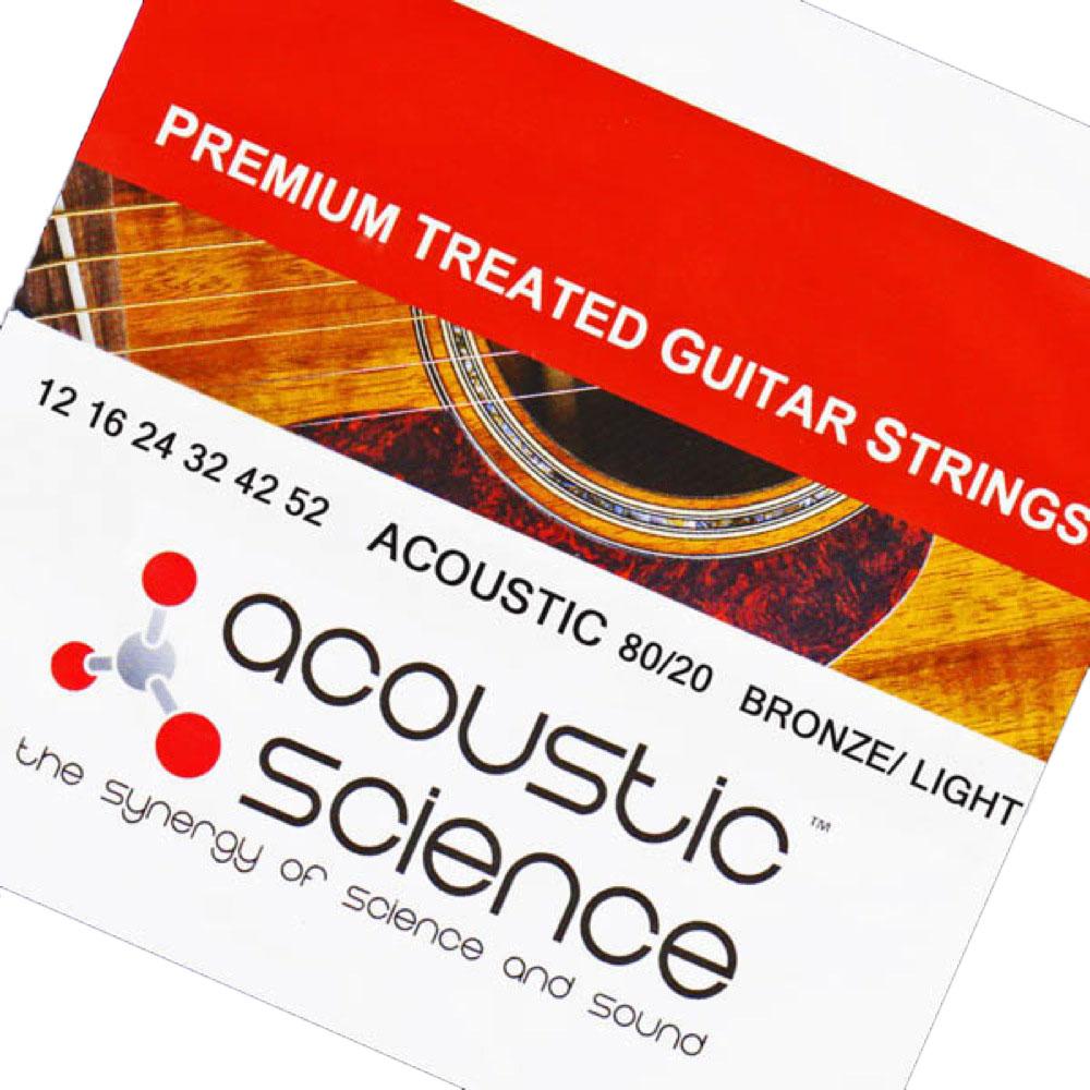 Acoustic Science LACSAG1252 80/20 Bronze Light アコースティックギター弦 ×5セット