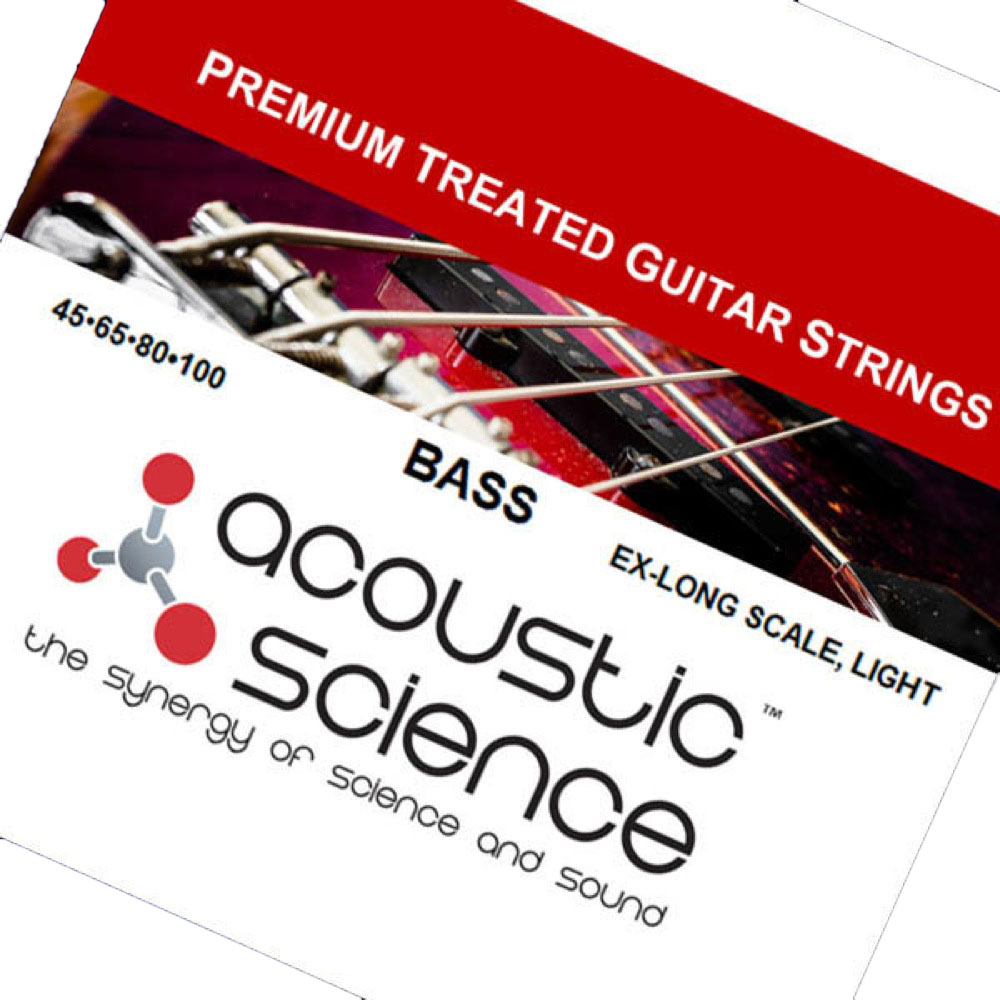 Acoustic Science LACSEB45100XL Nickel Light Extra Long scale エレキベース弦×3セット