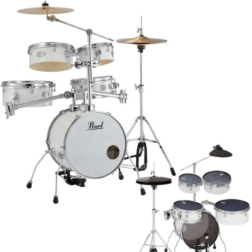 Pearl RT-645N/C #33 Rhythm Traveler Version.3S ピュアホワイト サイレントパックセット