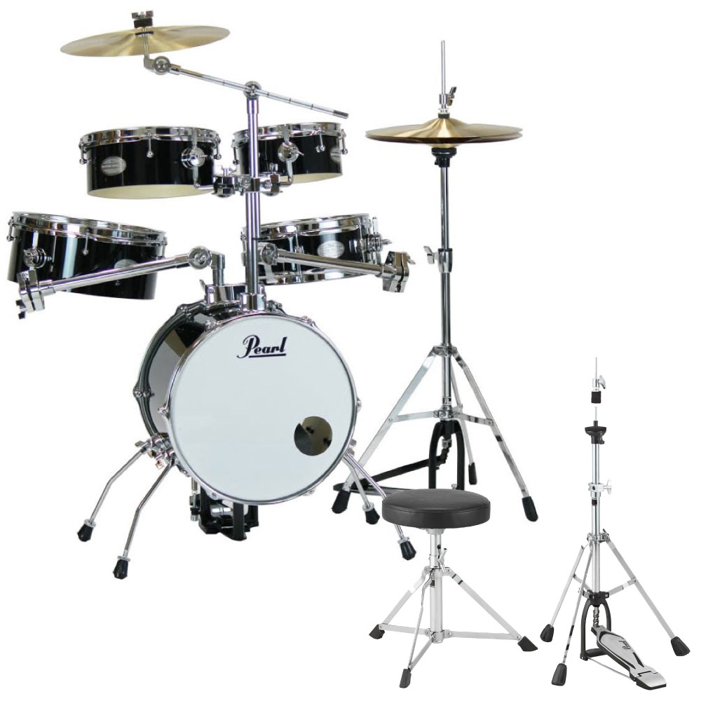 Pearl RT-645N/C #31 Rhythm Traveler Version.3S ジェットブラック キッズ用ドラムスローン&ハイハットスタンドセット