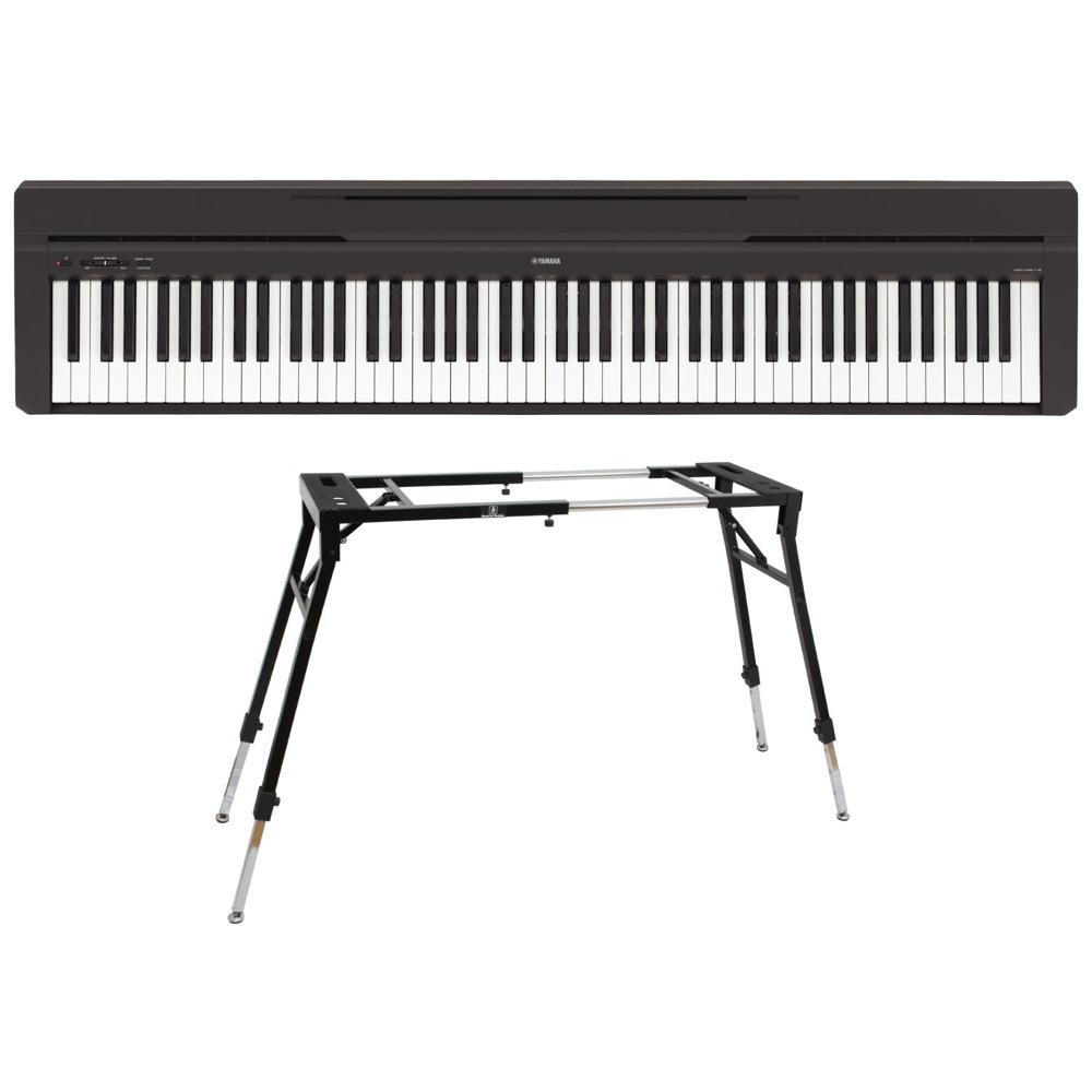 YAMAHA P-45B ブラック 電子ピアノ Dicon Audio KS-060 4本脚型 キーボードスタンド 2点セット