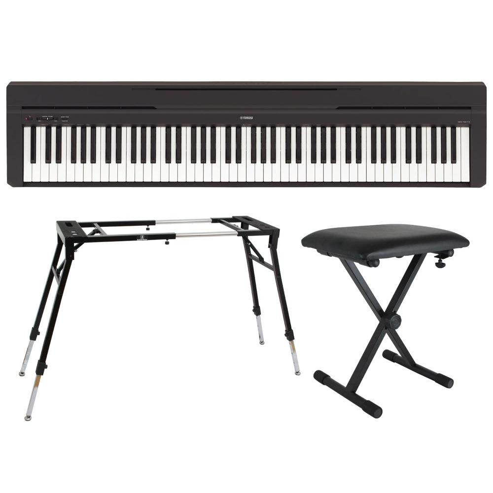 YAMAHA P-45B ブラック 電子ピアノ Dicon Audio KS-060 4本脚型 キーボードスタンド キーボードベンチ 3点セット