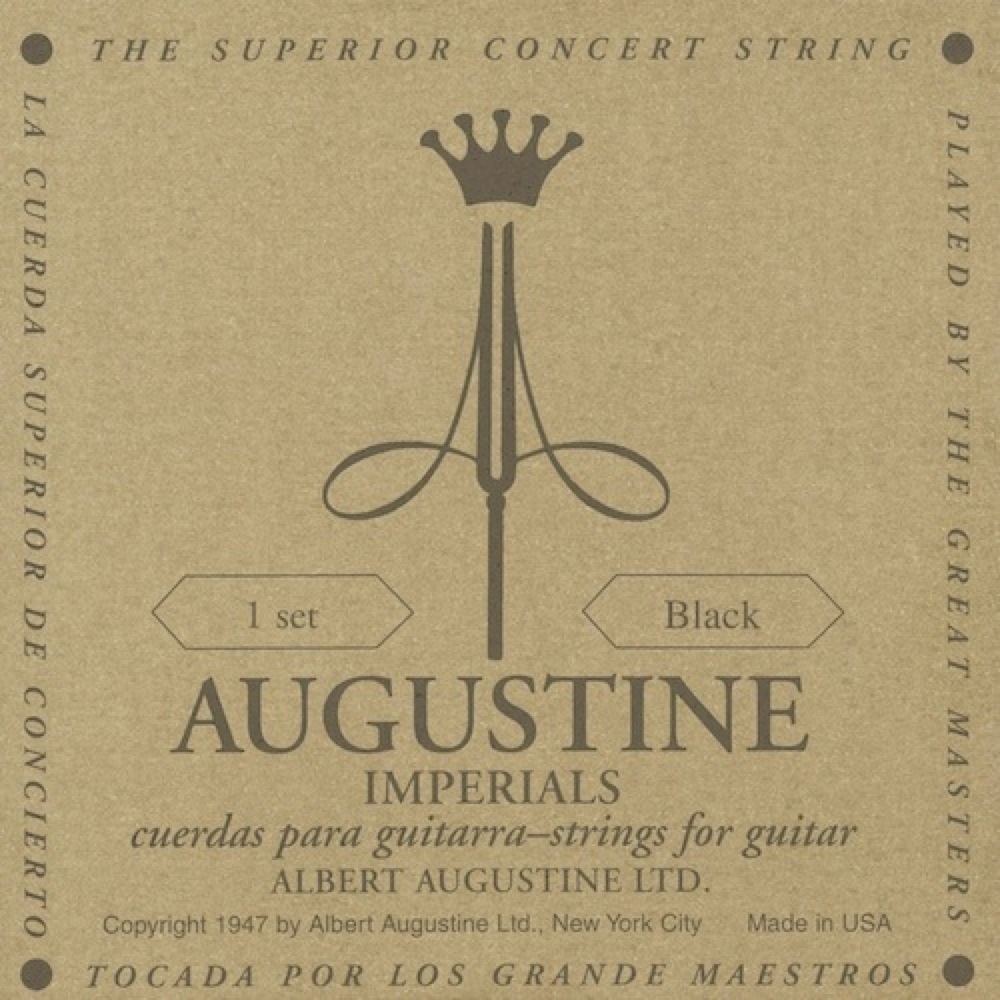 AUGUSTINE IMPERIAL BLACK SET クラシックギター弦×12セット