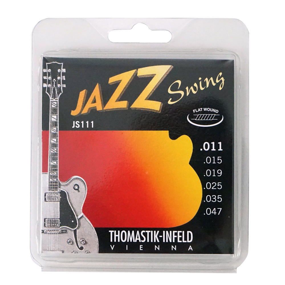 Thomastik-Infeld JS111 JAZZ SWING Flat Wound フラットワウンドギター弦×6セット