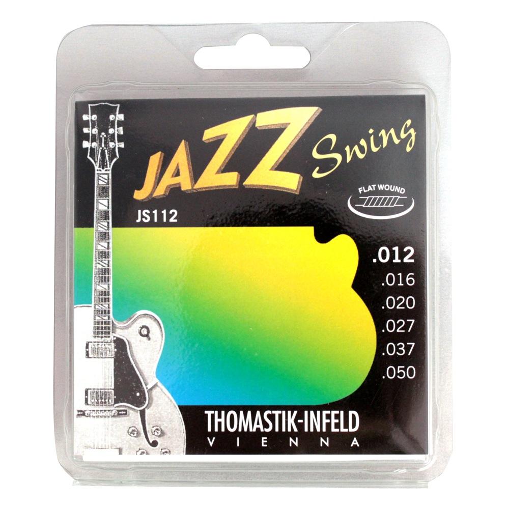 Thomastik-Infeld JS112 JAZZ SWING Flat Wound フラットワウンドギター弦×6セット