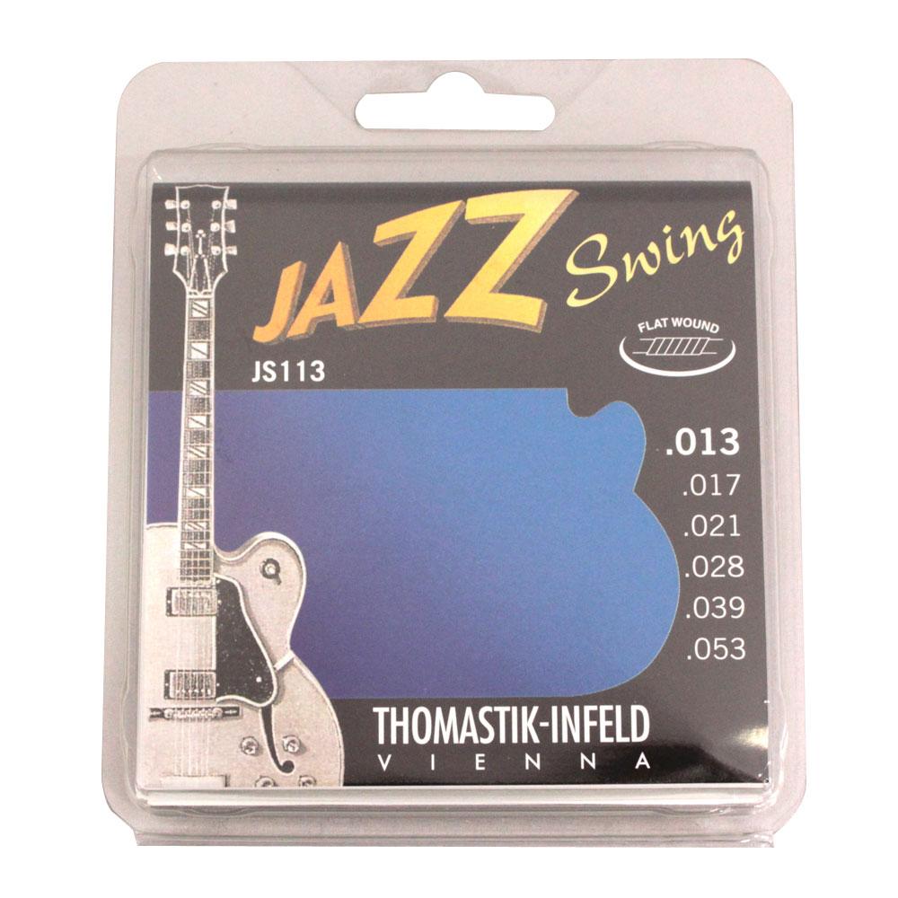 Thomastik-Infeld JS113 JAZZ SWING Flat Wound フラットワウンドギター弦×6セット