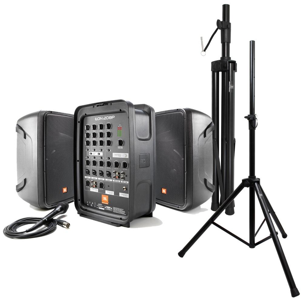 JBL PROFESSIONAL EON208P ポータブルPAシステム Dicon Audio SS-062 スピーカースタンド 2点セット
