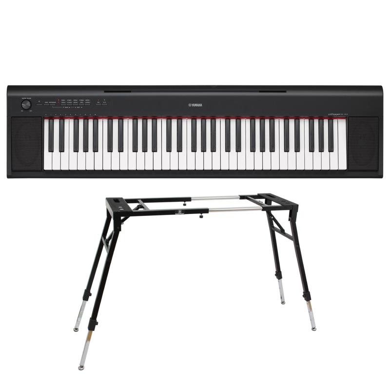 YAMAHA NP-12B piaggero 61鍵盤 電子キーボード Dicon Audio KS-060 4本脚型 キーボードスタンド 2点セット