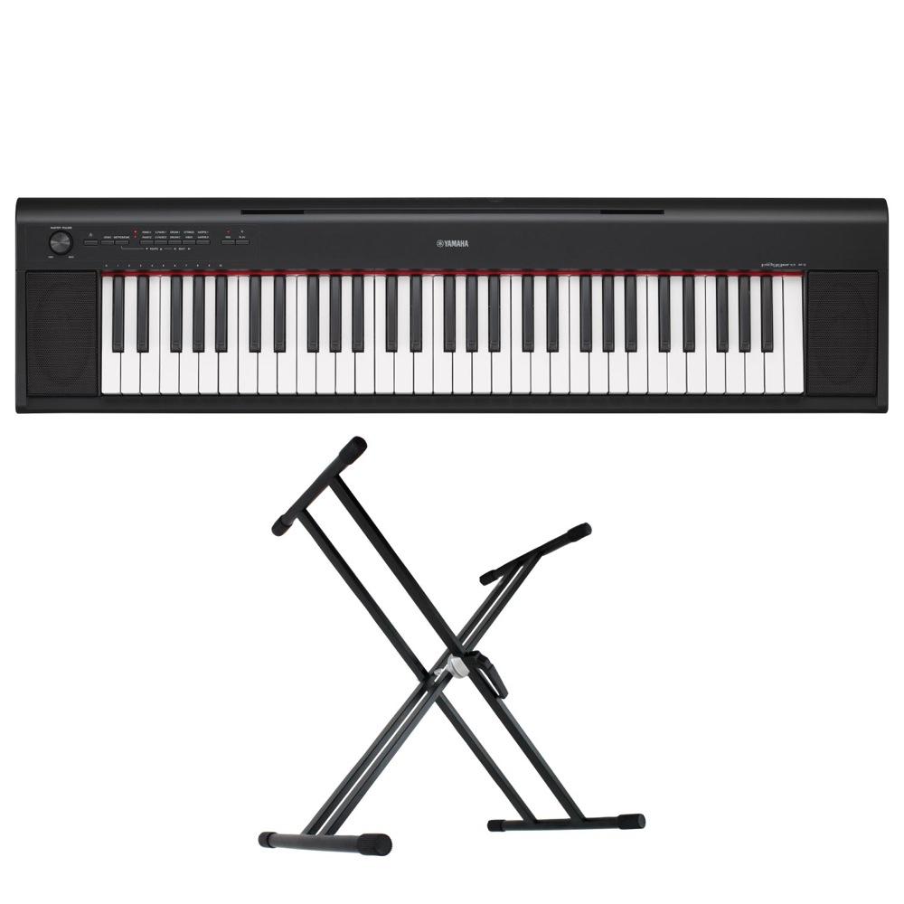 YAMAHA NP-12B piaggero 61鍵盤 電子キーボード Dicon Audio KS-020 X型キーボードスタンド 2点セット