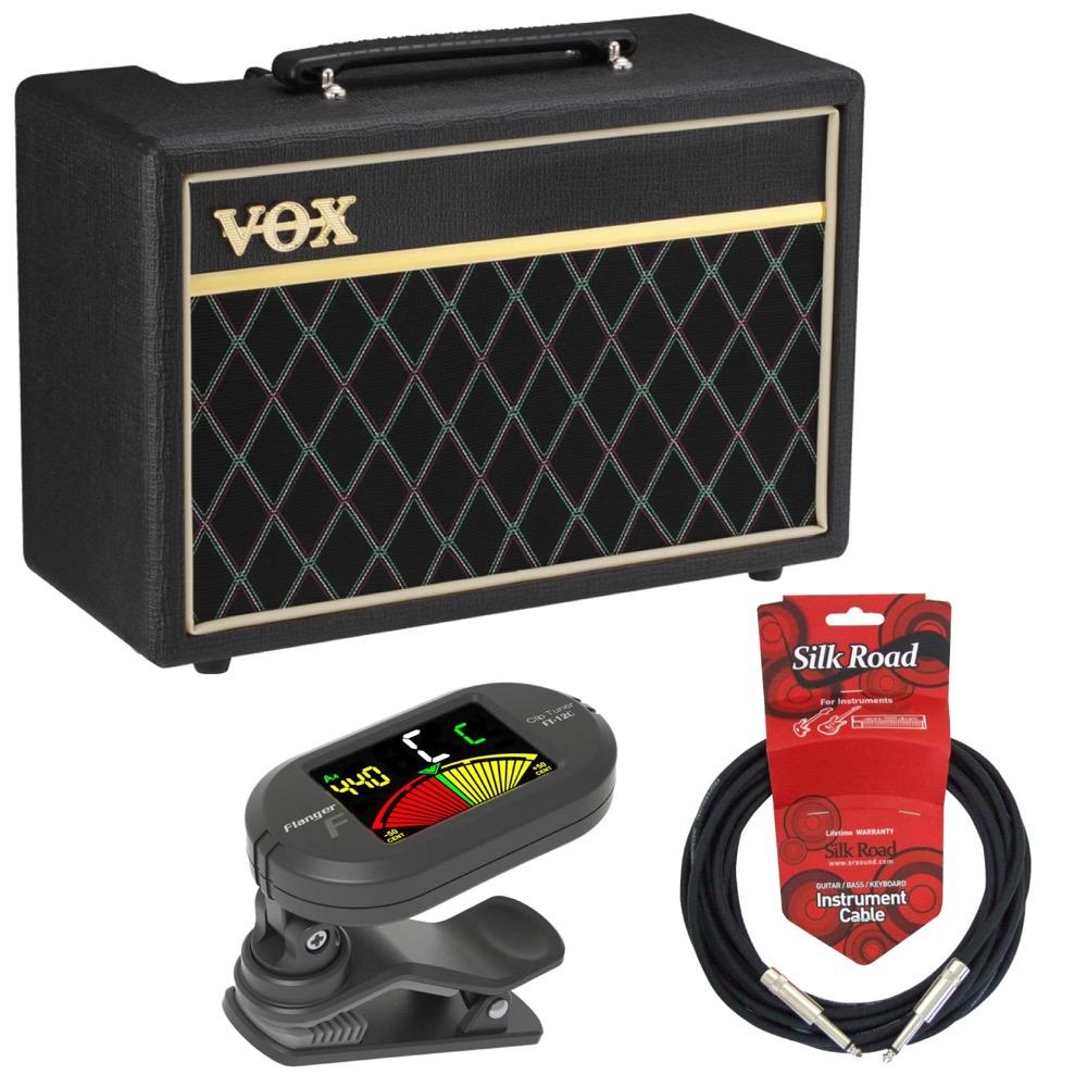 入門用としても定番ベースアンプ まとめ買い特価 シールド チューナー 3点セット VOX Pathfinder Bass ベースアンプ Flanger 10 3mケーブル クリップチューナー ベース入門3点セット 日時指定