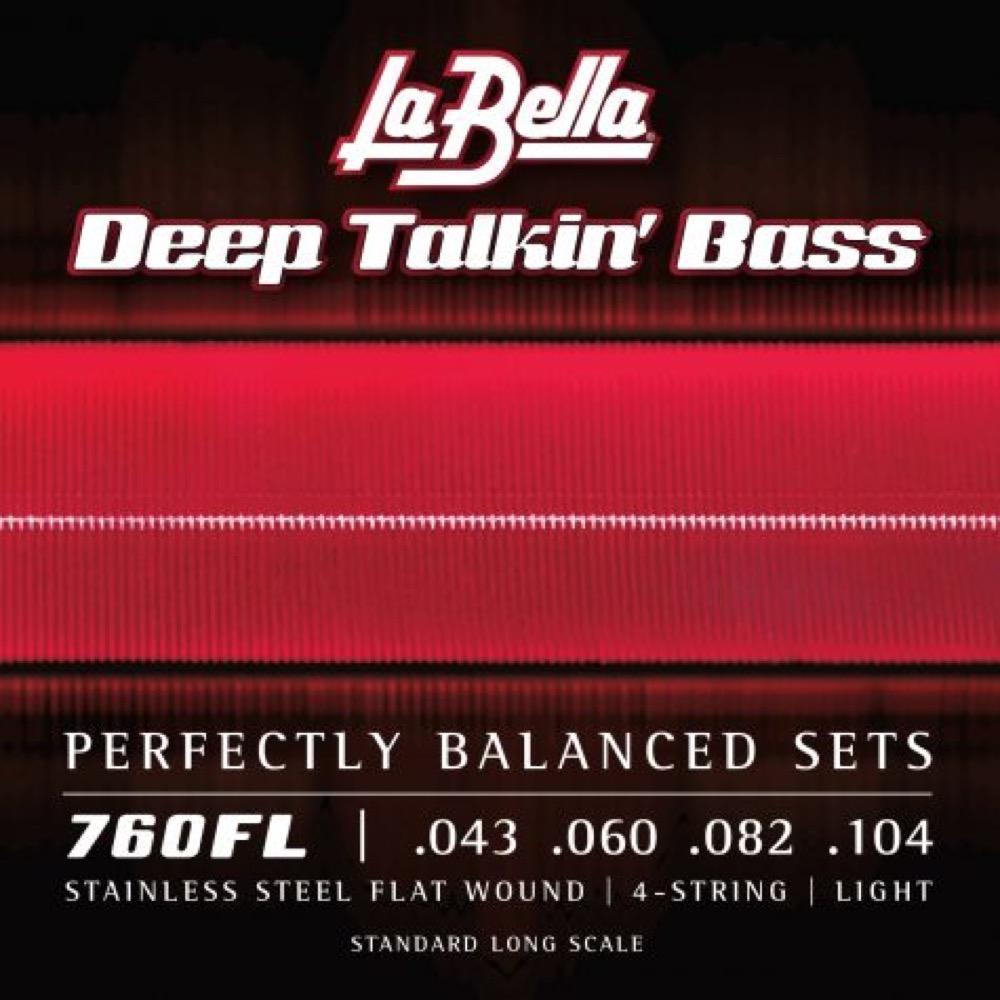 La Bella 760FL フラットワウンド ベース弦×2セット