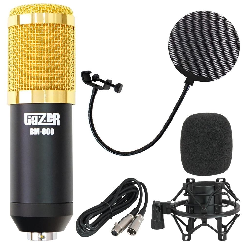 SD GAZER BM-800 Black コンデンサーマイク Dicon Audio DCP-2 メタルポップフィルター付き 2点セット