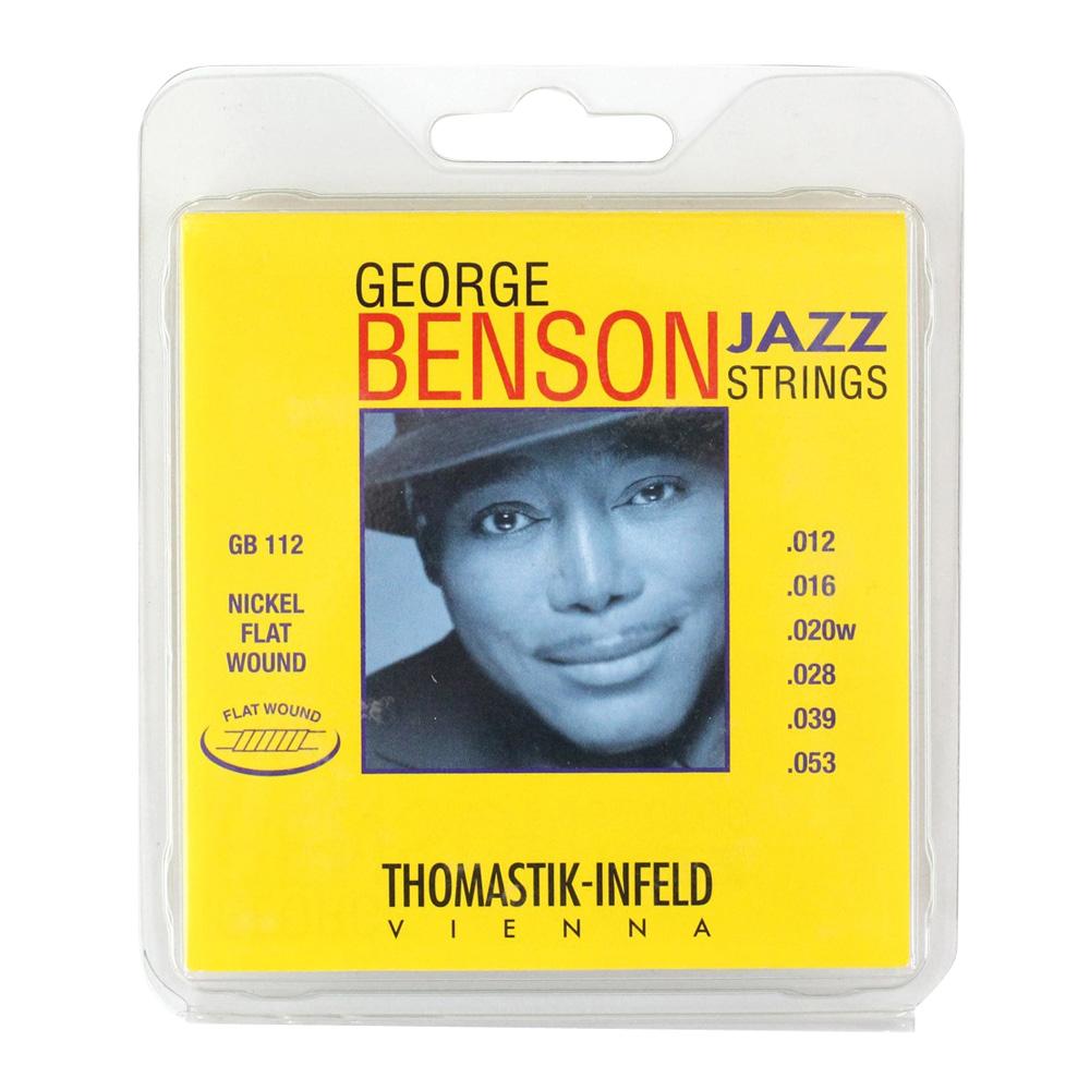 Thomastik-Infeld GB112 GEORGE BENSON JAZZ STRINGS Flat Wound フラットワウンドギター弦×3セット
