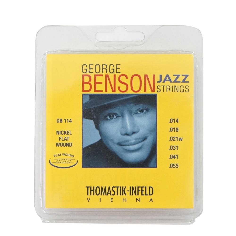 Thomastik-Infeld GB114 GEORGE BENSON JAZZ STRINGS Flat Wound フラットワウンドギター弦×3セット