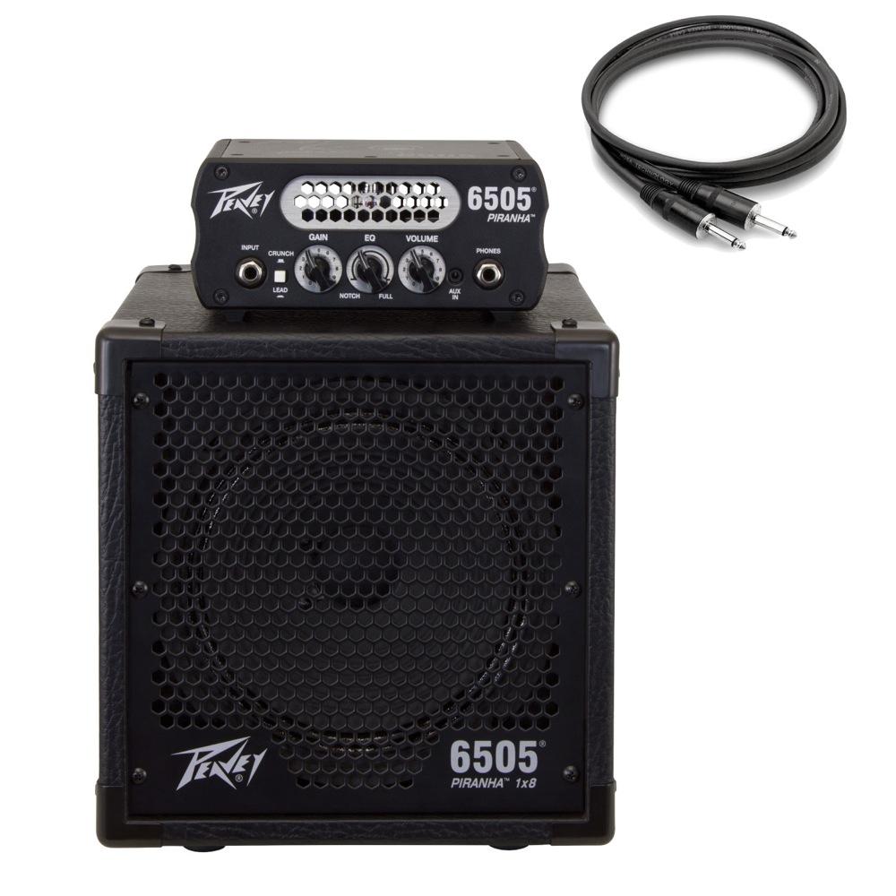 PEAVEY 6505 Piranha ギターアンプヘッド 専用キャビネット Hosa スピーカーケーブル1.5m付き 3点セット 【国内正規品】