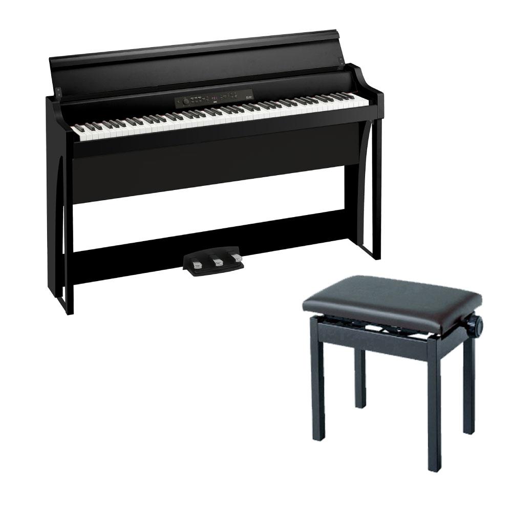 KORG G1 AIR BK 電子ピアノ & KORG PC-300BK ピアノ椅子付きセット