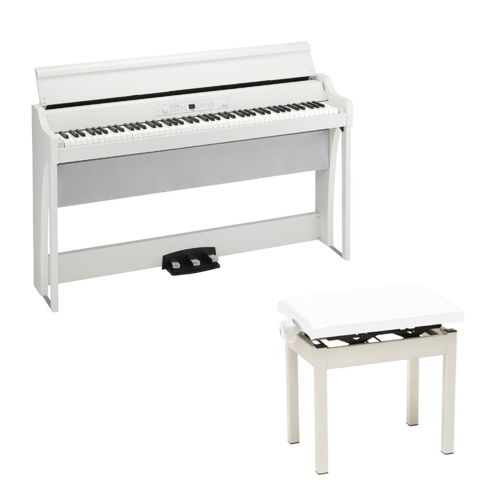 KORG G1 AIR WH 電子ピアノ & KORG PC-300WH ピアノ椅子セット
