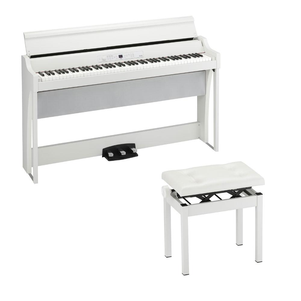 KORG G1 AIR WH 電子ピアノ & KORG PC-550-WH 高低自在ピアノ椅子付きセット
