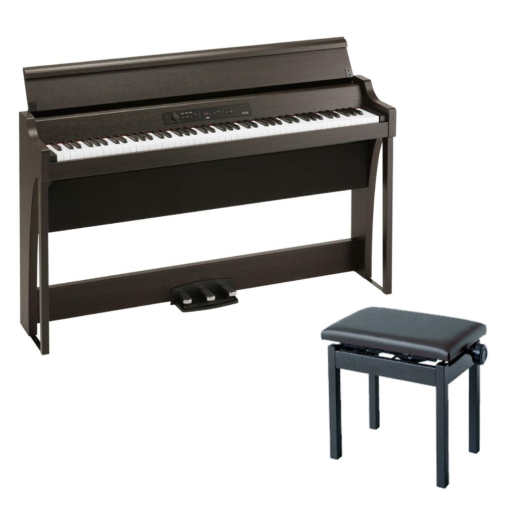 KORG G1 AIR BR 電子ピアノ & KORG PC-300BK ピアノ椅子付きセット