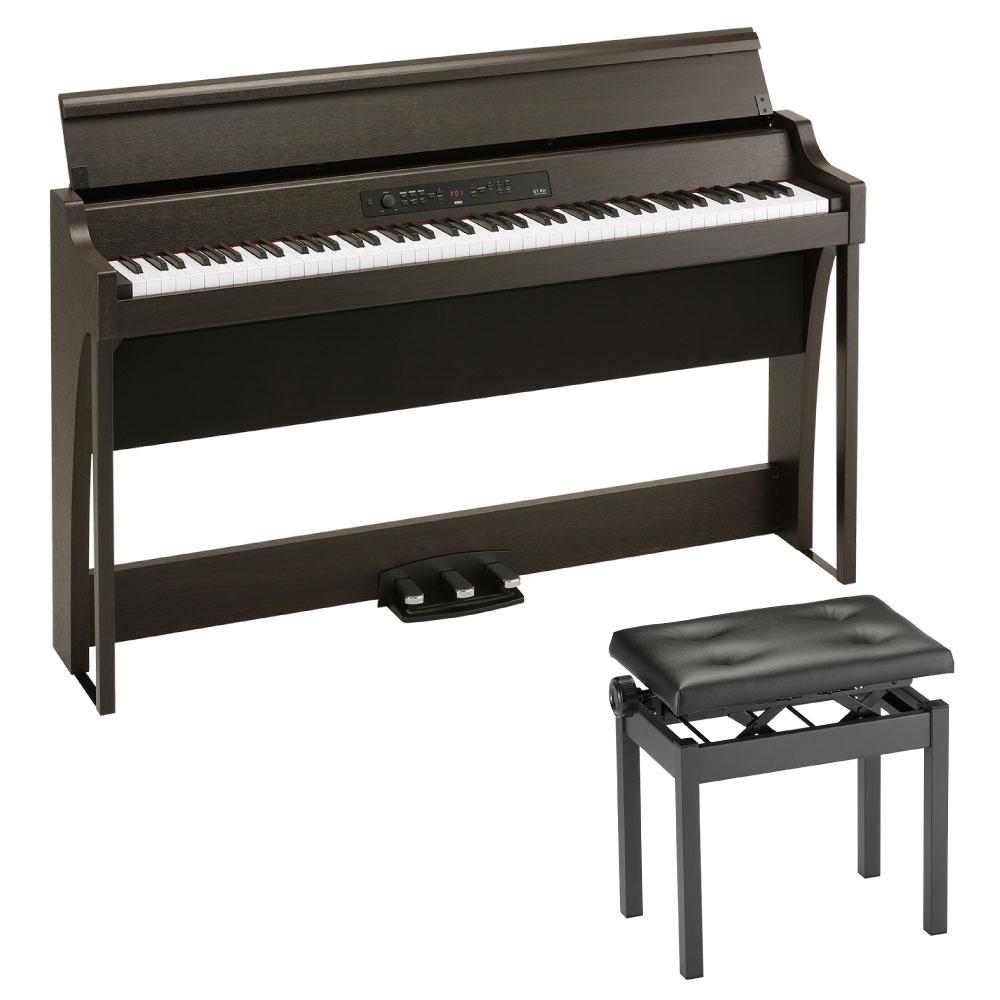 KORG G1 AIR BR 電子ピアノ & KORG PC-550-BK 高低自在イス付きセット