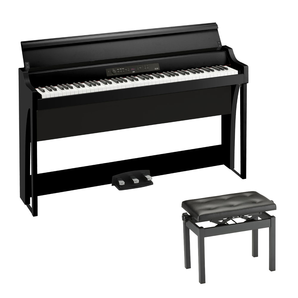 KORG G1 AIR BK 電子ピアノ & KORG PC-770-BK 幅広タイプピアノ椅子付きセット