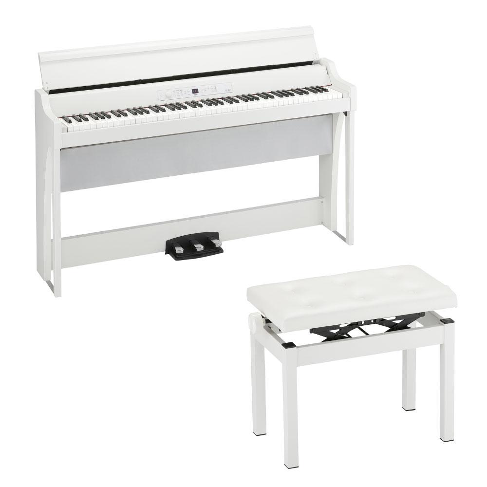KORG G1 AIR WH 電子ピアノ & KORG PC-770-WH 幅広タイプピアノ椅子セ付きセット