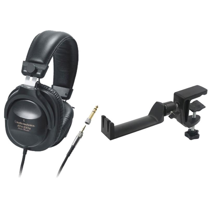 AUDIO-TECHNICA ATH-SX1a モニターヘッドホン SEELETON SMH-1 マルチアングル ヘッドホンハンガー 2点セット