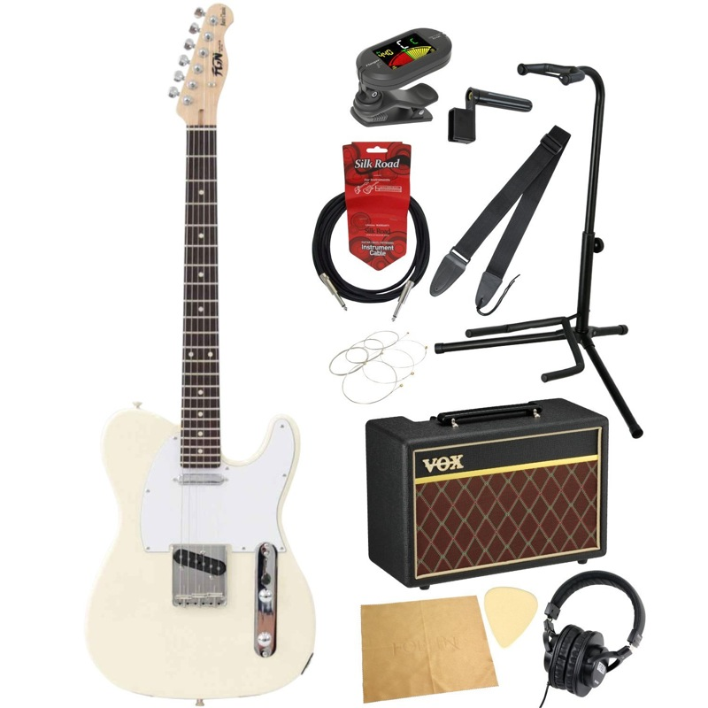 フジゲンから始める! エレキギター入門セット FUJIGEN FGN Basic Classic BCTL10RBD VWH/01 エレキギター VOXアンプ付 11点セット