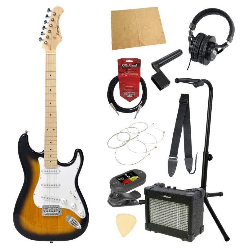 エレキギター入門11点セット BACCHUS BST-1M 2TS